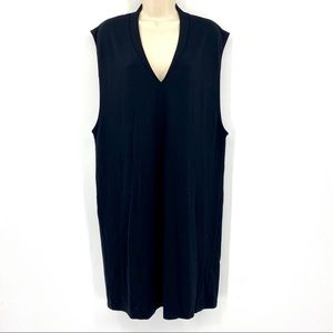 ASOS black stretch v neck dress sz 10
